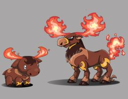 Terra Monsters - Flamoose by TerryTibke