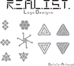 R.E.A.L.I.S.T. - Logo Center Emblem Designs by Darkstar-Archangel