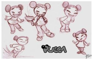 Pucca sketches by 14-bis