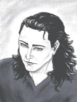 Loki pencil drawing by Cris-Nicola