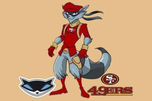Sly Cooper the 49ers fan by Metallica1147