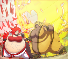 Fight at the buffet by Satsurou