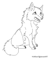Wolf lineart by WolfStarr7
