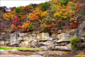 Ledges Fall Colors by bacardi870