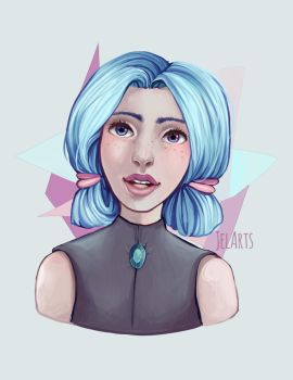 Bubblegum Portrait Practice by JelArts