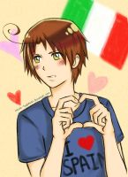 Romano loves Spain by Tsukimochi