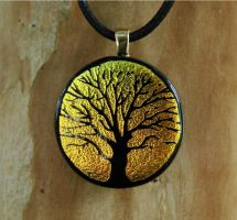 Sunset Tree of Life Fused Glas by FusedElegance