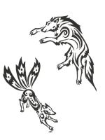 Fox And Wolf Tribal by neodragonarts