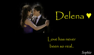 Delena Wallpaper by SophieTheVampire