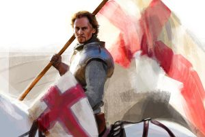 Henry V with flag by HashtagGenius