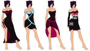gothic outfit designs 4 by MemaidGirl