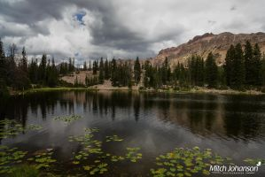 Storm Clouds Over Butterfly Lake by mjohanson