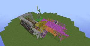 Tic Tac Toe Redstone Build - Overhead View 5 by bugworlds