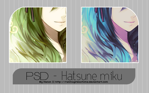 Hatsune Miku coloring PSD by RanmaGirlSaotome