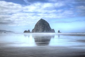 Haystack Rock Cannon Beach HDR by photoboy1002001