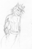 Chaser pencil sketch by ChaserTech