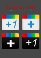 Google+ Icons PSD Set by Kan412