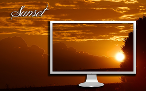 Sunset Desktop Wallpaper by DarkKnight2264