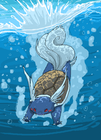 Jump, Wartortle, Jump by Canvascope