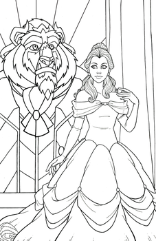 Belle - Beauty and the Beast by JamieFayX