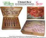 Handmade Chisel Box Decorated With Pyrography by snazzie-designz
