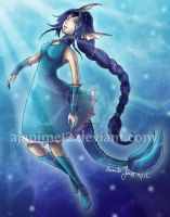 Vaporeon Gijinka 3 Years Later by AJanime12