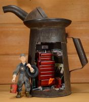 Ted the mechanic Oil Can by MiniatureMadness