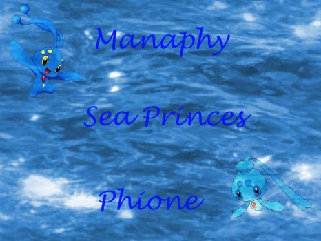 Manaphy and Phione by GallaRose