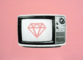 television (pink diamond) by zachcherry