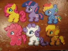My Little Pony fuse bead art by CharacterGirl