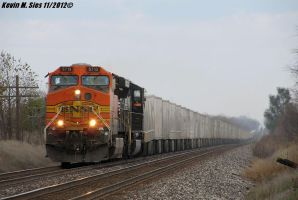 BNSF 5713 on 255 roadrailer train @ Oakley ILL by EternalFlame1891