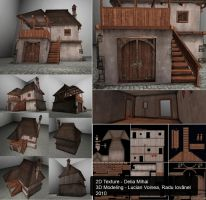 Medieval house 03 by delira