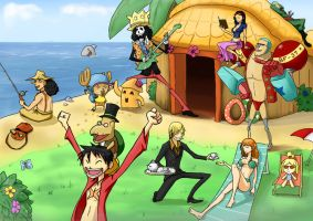 Strawhat Crew on Tortimer Island Vacation by Geartap