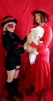 Madame Red with the poodle by nezukuro