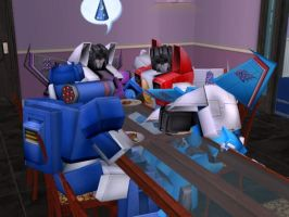 Thundercracker passed out by dionski
