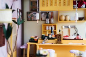 Miniature Sushi Bar by kixkillradio