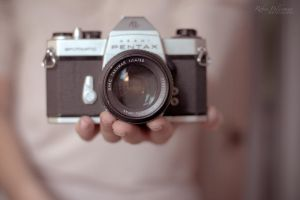 Vintage pentax camera by Pamba