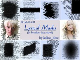 Lyrical Mask Brushes by kalina-blue