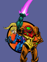 Super Smash Bros: Varia and Zero-Suit Samus by Jonny-Aleksey