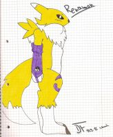 my first Renamon by DragonFireSDS