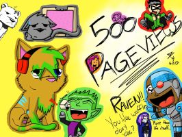 500 Pageviews by Artistic-Winds