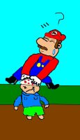 Whats in the ground mario by The-not-Mario-guy