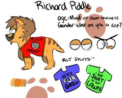 qunpowder's contest entry - Richard Piddle by DaedalusTheGreat