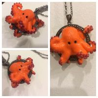 Orange octopus request by Seenthroughalense