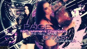 Paige - New WWE Divas Champion Wallpaper by Oetzi92