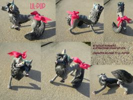 Lil-Pup sculpture by AlieTheKitsune