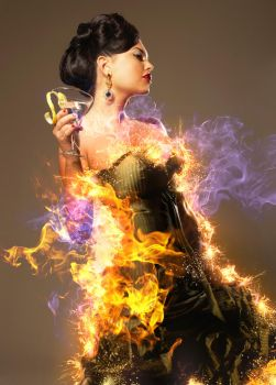 Lady on fire by ArtoriusGothicus