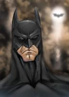 batman colour sketch by thenota
