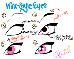 How to Draw Winx-Style Eyes by GlitterHell