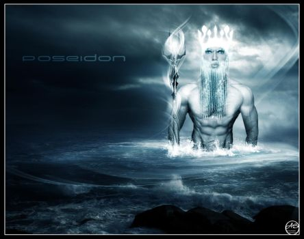 The God Poseidon by PaiVerde